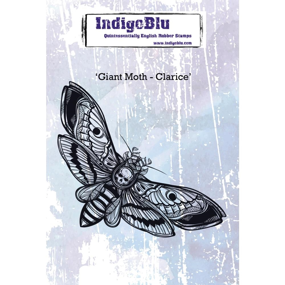 IndigoBlu Cling Stamp GIANT MOTH CLARICE ind0448 zoom image