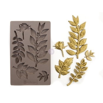 Prima Marketing LEAFY BLOSSOMS Re-Design Decor Mould 635756