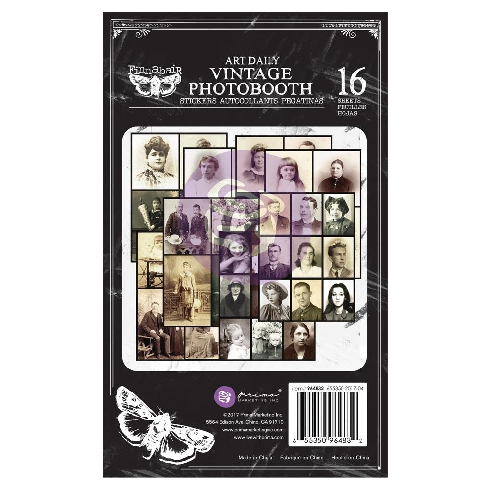 Prima Marketing VINTAGE PHOTOBOOTH Art Daily Planner Sticker Pad 964832 zoom image