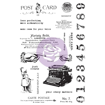 Prima Marketing CARTE POSTALE Art Daily Planner Clear Stamps 964900