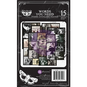 Prima Marketing WORDS YOU NEED Art Daily Planner Sticker Pad 964948