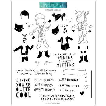 Concord & 9th BUNDLED UP Clear Stamp Set 10493