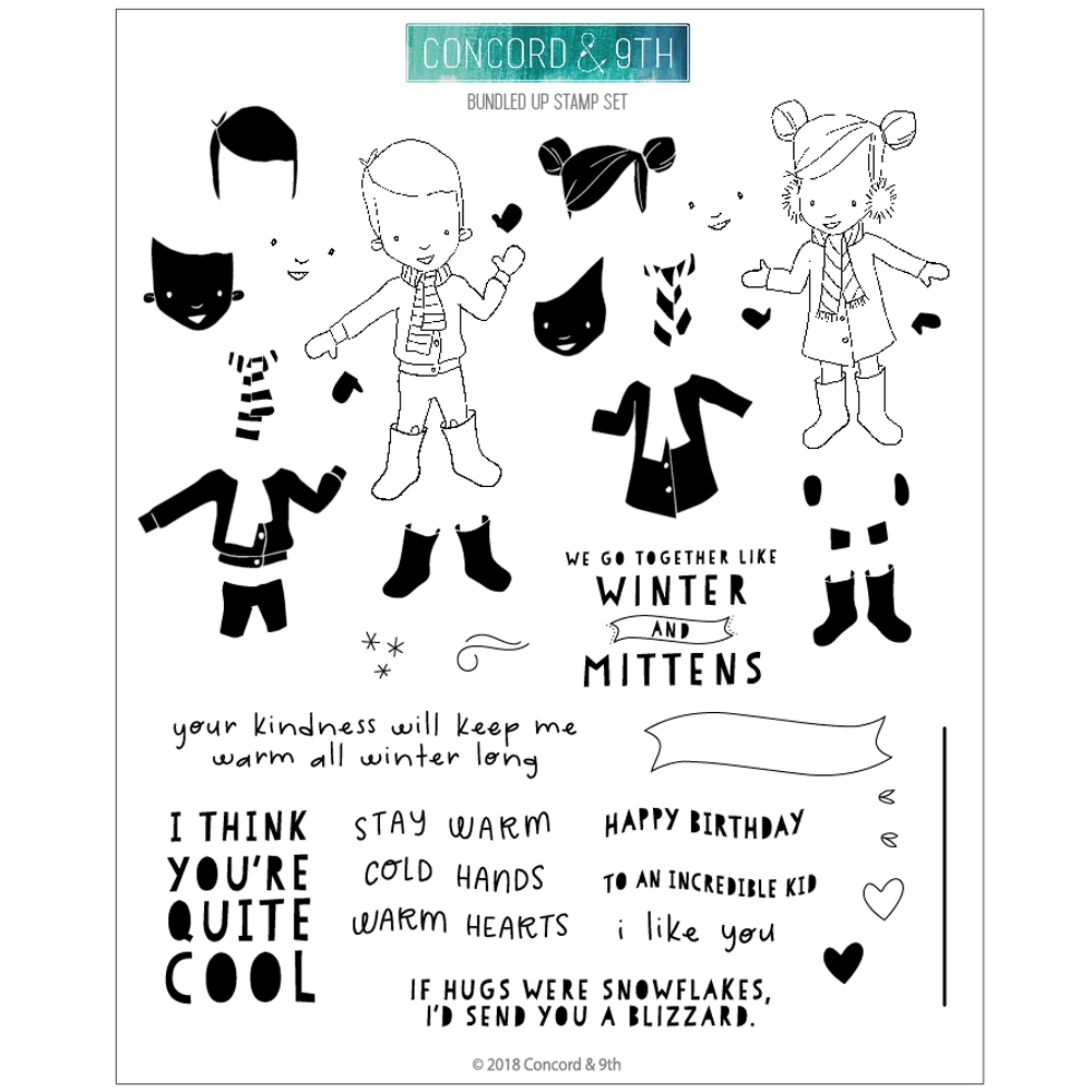 Concord & 9th BUNDLED UP Clear Stamp Set 10493 zoom image