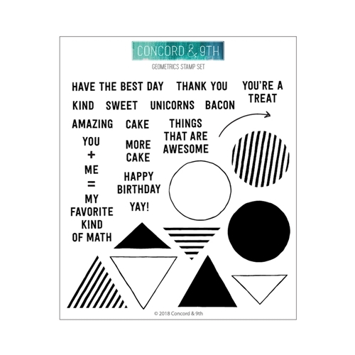 Concord & 9th GEOMETRICS Clear Stamp Set 10503 Preview Image