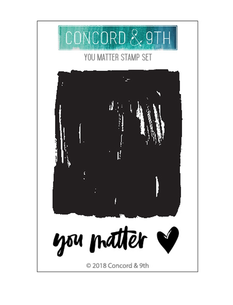 Concord & 9th YOU MATTER Clear Stamp Set 10478* zoom image