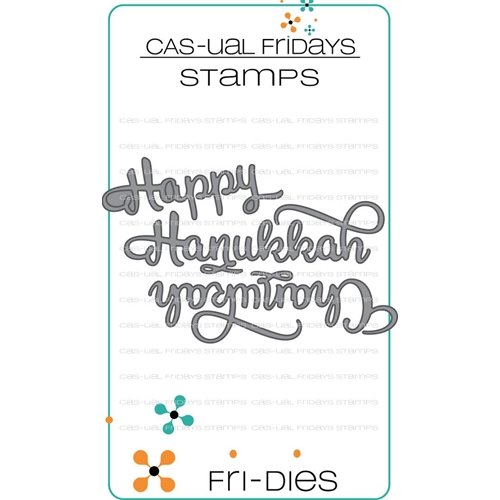 CAS-ual Fridays HAPPY HANUKKAH Fri-Dies Steel Craft Dies CFD1815 Preview Image