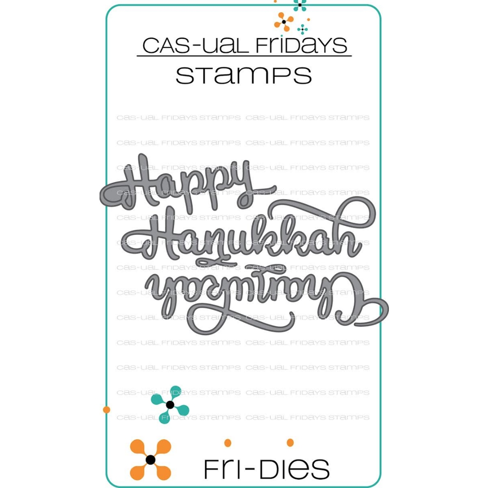 CAS-ual Fridays HAPPY HANUKKAH Fri-Dies Steel Craft Dies CFD1815 zoom image
