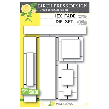 Birch Press Design HEX FADE Craft Die Set 58138