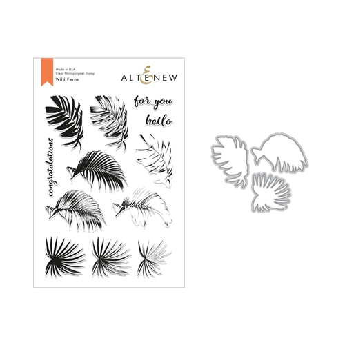 Altenew WILD FERNS Clear Stamp and Die Set ALT2826 Preview Image