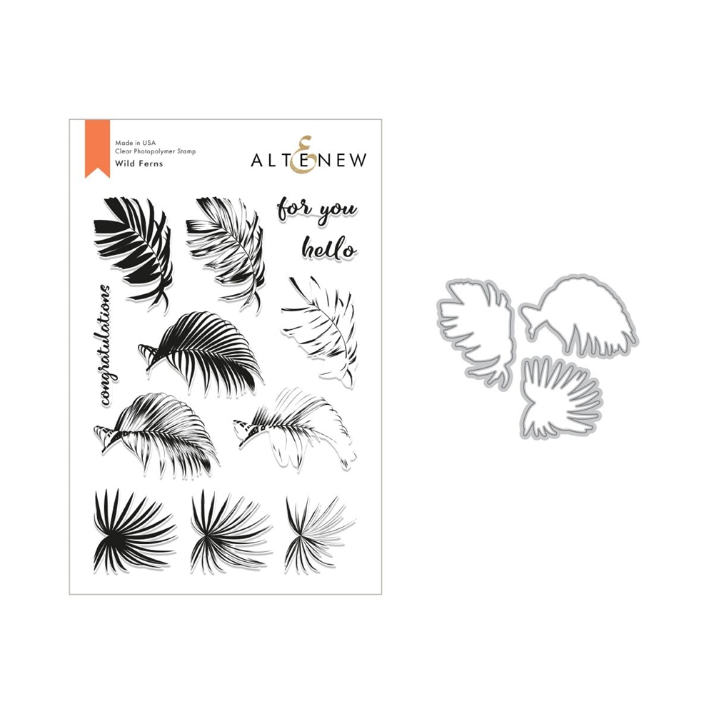 Altenew WILD FERNS Clear Stamp and Die Set ALT2826 zoom image