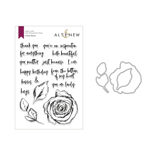 Altenew INKED ROSE Clear Stamp and Die Set ALT2819 Preview Image
