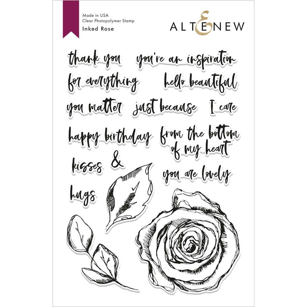 Altenew INKED ROSE Clear Stamps ALT2817 zoom image