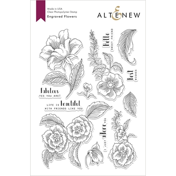Altenew ENGRAVED FLOWERS Clear Stamps ALT2810