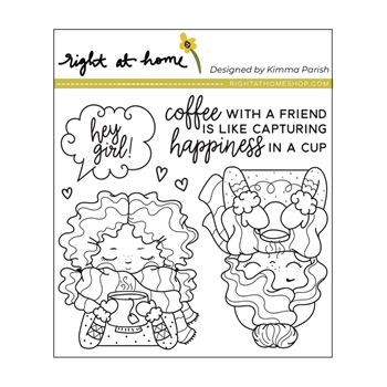 Right At Home CUPPA FRIENDSHIP Clear Stamps 38605