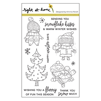 Right At Home WINTER PALS Clear Stamps 38643*