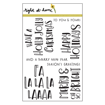 Right At Home FA LA LA Clear Stamps 38667