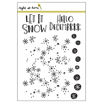 Right At Home SNOW FLURRIES BACKGROUND Clear Stamps 38698