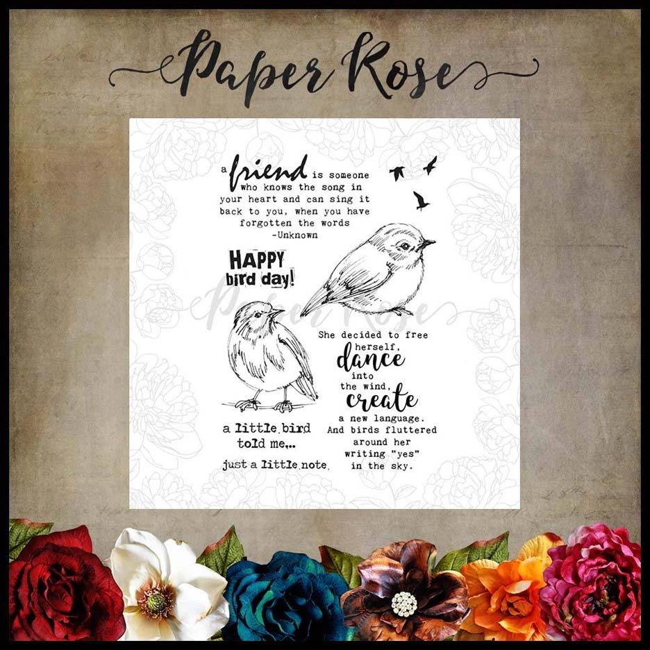 Paper Rose BIRD DAY Clear Stamps 17802 zoom image