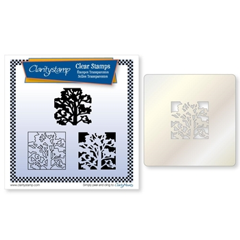 Claritystamp OAK TREE THREE WAY OVERLAY Clear Stamps and Stencil clatr20066a5*