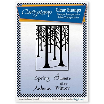 Claritystamp TREESCAPE AND SEASONS Clear Stamps statr10640a5