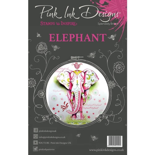 Pink Ink Designs ELEPHANT A5 Clear Stamps pi004 Preview Image