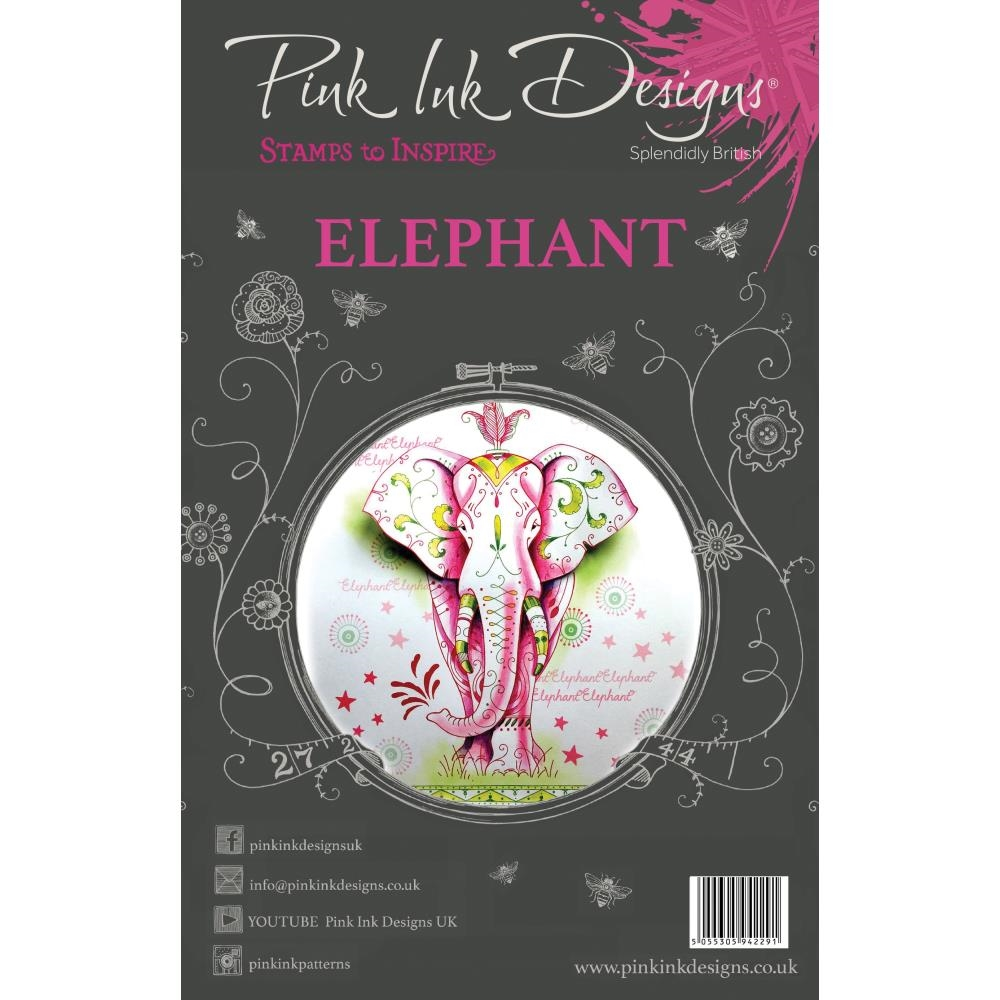 Pink Ink Designs ELEPHANT A5 Clear Stamps pi004 zoom image