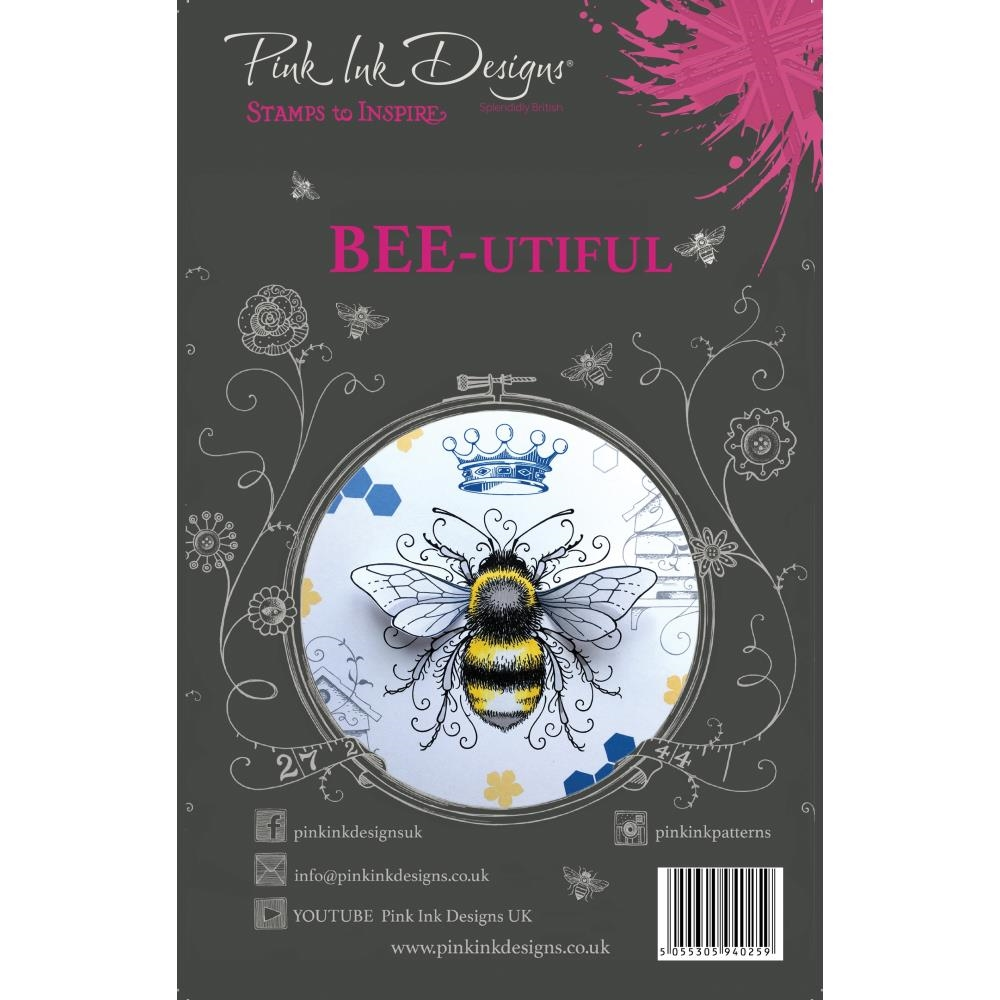 Pink Ink Designs BEE-UTIFUL A5 Clear Stamps pi001 zoom image