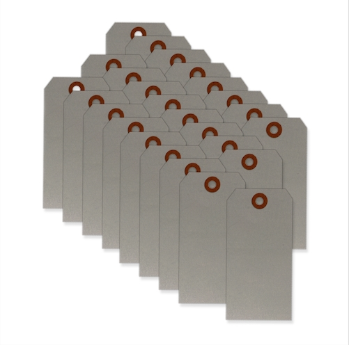 American Tag #5 PEWTER GRAY CLASSIC TAGS 25 Pack 29396 zoom image
