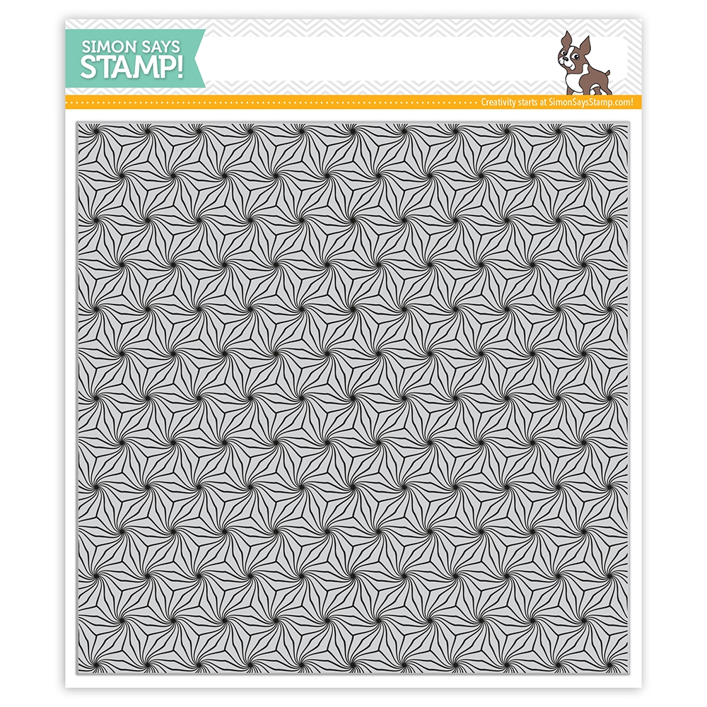 Simon Says Cling Rubber Stamp POINSETTIA BACKGROUND sss101950 zoom image