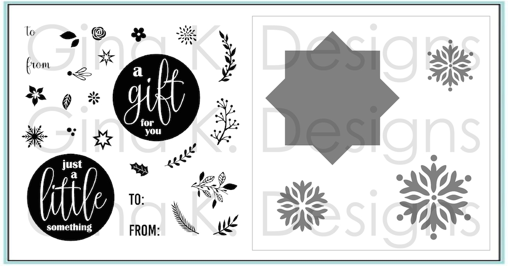 Gina K Mini Wreath Builer Clear Stamps and Stencils