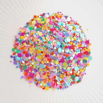 Little Things From Lucy's Cards SPRINKLES LET'S POLKA Sparkly Shaker Mix LB188*