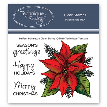 Technique Tuesday PERFECT POINSETTIA Clear Stamps 02739