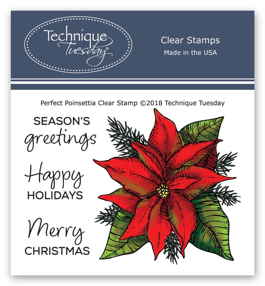 Technique Tuesday PERFECT POINSETTIA Clear Stamps 02739 zoom image