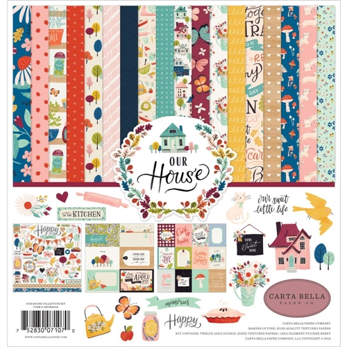 Carta Bella OUR HOUSE 12 x 12 Collection Kit cboh94016 Preview Image