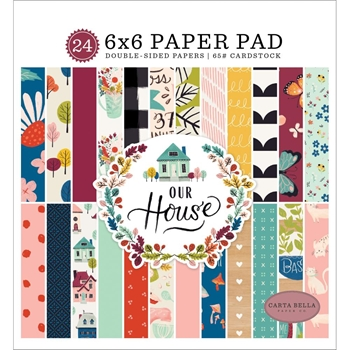 Carta Bella OUR HOUSE 6 x 6 Paper Pad cboh94023