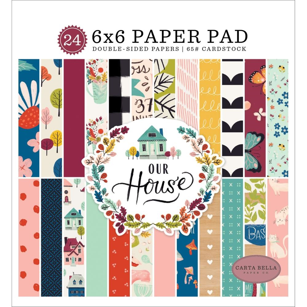 Carta Bella OUR HOUSE 6 x 6 Paper Pad cboh94023 zoom image