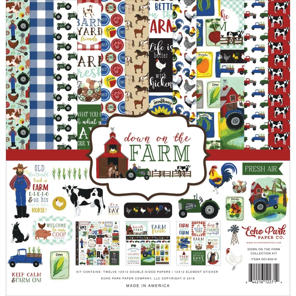 Echo Park DOWN ON THE FARM 12 x 12 Collection Kit do182016 zoom image