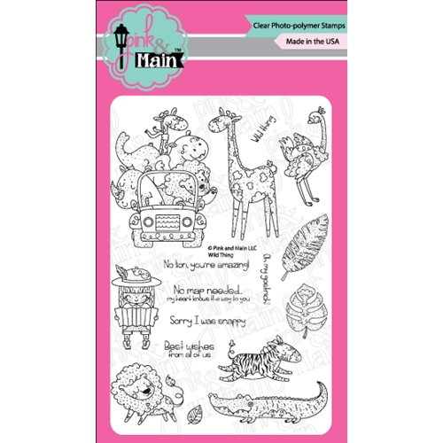 Pink and Main WILD THINGS Clear Stamps PM0313* Preview Image