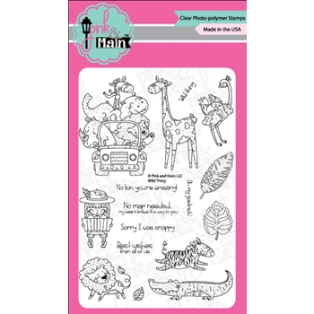 Pink and Main WILD THINGS Clear Stamps PM0313*