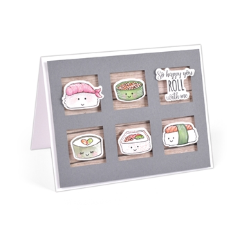 Sizzix Framelits SUSHI ROLL Combo Die and Stamp Set 663514*