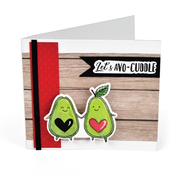 Sizzix Framelits AVOCUDDLE Combo Die and Stamp Set 663505*