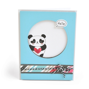 Sizzix Framelits BEAR HUGS Combo Die and Stamp Set 663506*