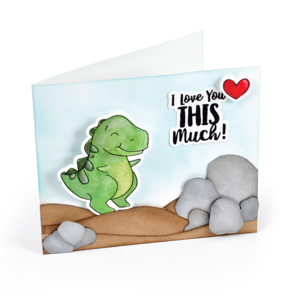 Sizzix Framelits T-REX Combo Die and Stamp Set 663515* zoom image