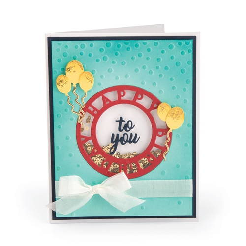 Sizzix HAPPY BIRTHDAY Impresslits Cut and Emboss Folder 663212 Preview Image