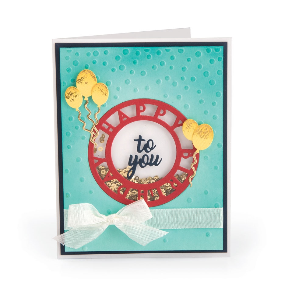 Sizzix HAPPY BIRTHDAY Impresslits Cut and Emboss Folder 663212 zoom image