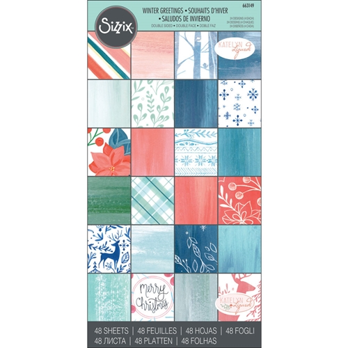 Sizzix WINTER GREETINGS 6x12 Cardstock Pad 663149 Preview Image