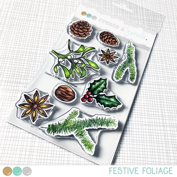 Create A Smile FESTIVE FOLIAGE Clear Stamps clcs95