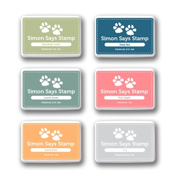 Simon Says Stamp Premium Dye Ink Pad Set PREPPY setpr08