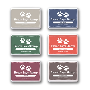 Simon Says Stamp Premium Dye Ink Pad Set HEARTH sethe09 *