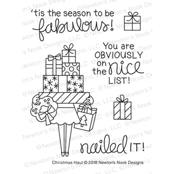 Newton's Nook Designs CHRISTMAS HAUL Clear Stamps NN1811S06*